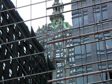 Free Midtown Reflections Royalty Free Stock Photos - 242518