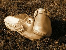 Child S Shoes Royalty Free Stock Photography