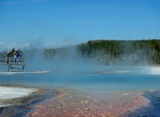 Free Photographers And Geyser Pool Stock Photography - 243262