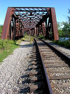 Free Old Railroad Bridge Stock Image - 245451