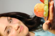 Free Girl With Fruits1 Royalty Free Stock Photos - 246818