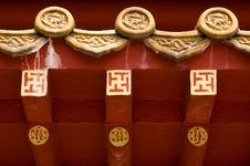 Free Roof Of Chinese Temple Stock Photography - 247052