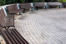 Free Benches In A Semicircle Stock Images - 247804