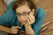 Free Woman With Glasses Royalty Free Stock Photo - 249925