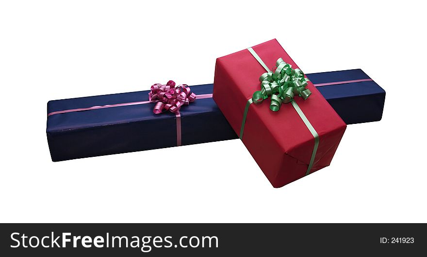 Isolated giftboxes