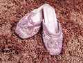 Free Pink Slippers Royalty Free Stock Photography - 2401867