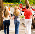 Free Girls On The Way To The Park Royalty Free Stock Photos - 2409748
