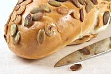 Free Pumpkin Bread With Seeds Stock Photography - 2401082