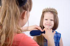 Free Preparing Little Princess Royalty Free Stock Photography - 2401267