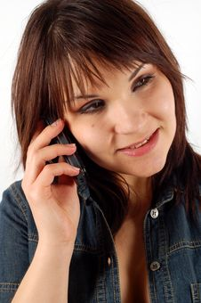 Free Phone Woman 14 Stock Photography - 2402082