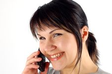 Free Phone Woman 14 Royalty Free Stock Images - 2402109