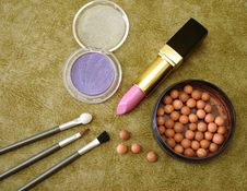 Free Eyeshadows And Lipstick Stock Photos - 2402153