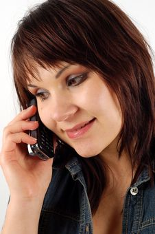 Free Phone Woman 14 Stock Photography - 2402162