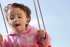 Free Child Swinging Royalty Free Stock Images - 2402359