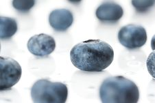 Free Blueberries On Wet Surface Stock Photos - 2402523