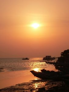 Free Sunset At Danshui Stock Images - 2402864