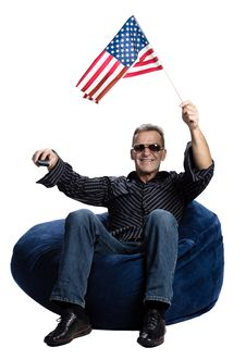 Free Man With An American Flag Stock Photos - 2404023