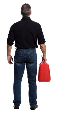 Free Man With Gasoline Royalty Free Stock Photo - 2404055