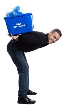 Free Man With A Recycling Box Royalty Free Stock Images - 2404099