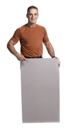 Free Muscular Man With White Panel Royalty Free Stock Image - 2404186