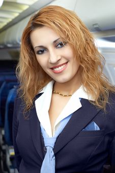 Free Air Hostess (steweardess) Royalty Free Stock Images - 2404559