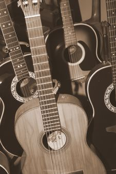 Free Guitar Collection Stock Photography - 2405112