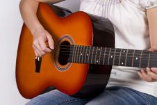 Free Girl With Guitar Stock Images - 2405514