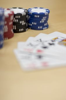 Free Poker Cards And Chips Royalty Free Stock Photo - 2405615