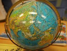 Free Globe Inside The Glass Room Royalty Free Stock Photo - 2405865