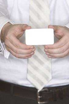 Free Businessman Giving His Card Royalty Free Stock Image - 2406096