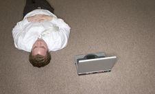Free Businessman Takes A Break Royalty Free Stock Photography - 2406247