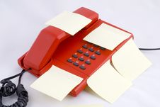 Free Red Telehone With Memo Royalty Free Stock Photos - 2406528