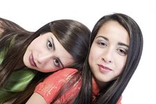 Free 2 Sisters Portrait Stock Photo - 2407680