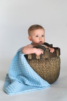 Free Basket Baby Stock Image - 2407721