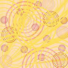 Free Yellow Background With Circles Royalty Free Stock Image - 2407836