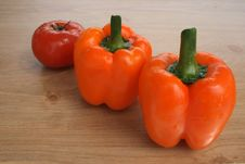 Free Fresh Peppers And Tomato Royalty Free Stock Photo - 2408085