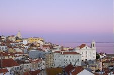 Free Old Lisbon At Sunset Royalty Free Stock Photography - 2409937