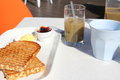 Free Simple Breakfast Served Outside Stock Images - 24004234