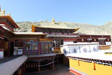 Buddhist Monastery In Tibet Stock Images