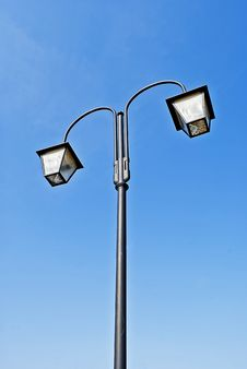 Old Style Street Lamp Stock Image