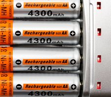 Free Batteries Royalty Free Stock Image - 24004816