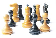Black And White Chess Together Stock Image