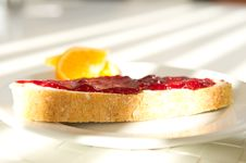 Bread With Jam Royalty Free Stock Photo