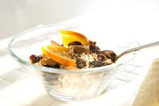 Close-up. Muesli With Orange Royalty Free Stock Photo