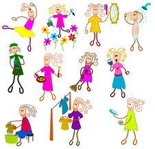 Free Female Activities Royalty Free Stock Photo - 24007595