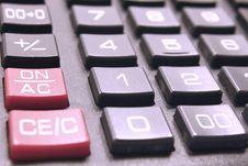 Free Calculator Buttonsc Loseup Royalty Free Stock Photos - 24007688