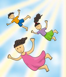 Free Sky Kids Stock Photo - 24007980