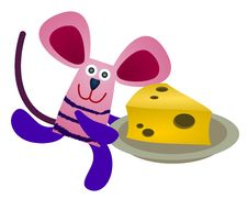 Free Mouse Steals Cheese Stock Photo - 24008200