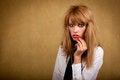 Free Girl With A Dirty Makeup Stock Photos - 24012673