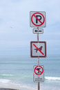 Free Four Warning Marks On Beach Stock Photo - 24017390